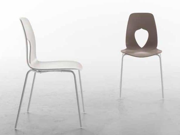 Polypropylene chair HOLE by Tonin Casa