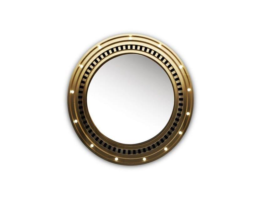 Specchio in ottone con illuminazione integrata hollywood by porustudio