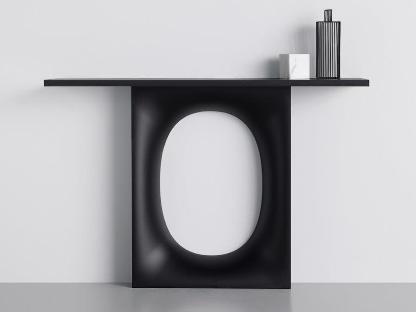 Rectangular laminate console table HOLO | Laminate console table by Kristalia