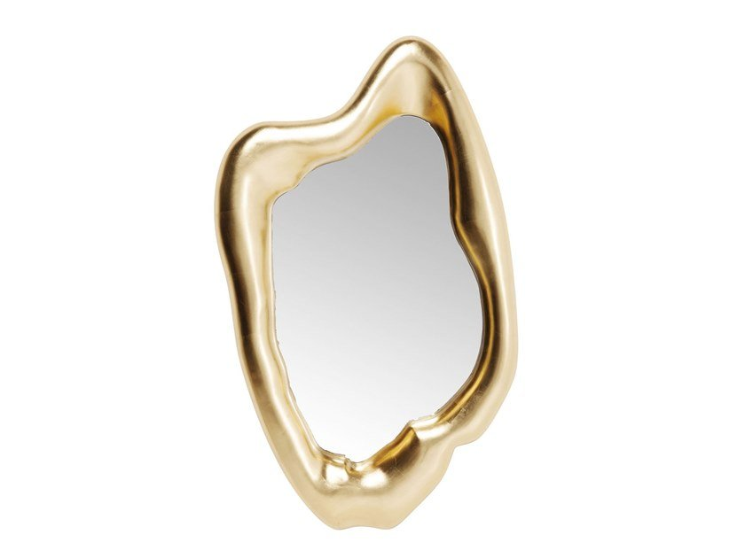 Framed wall-mounted mirror HOLOGRAM GOLD | Mirror by KARE-DESIGN