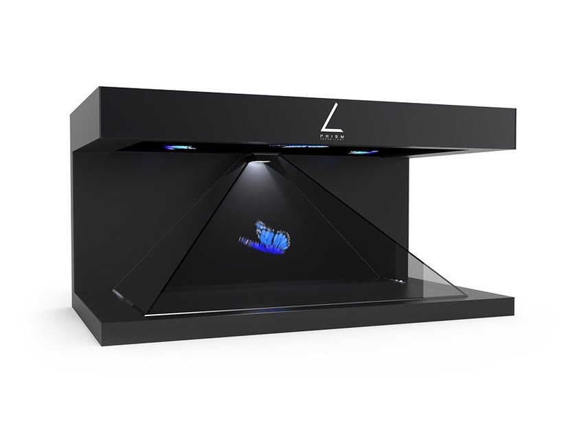 Multimedia display stand HOLOGRAM PRISM 180° by Ox-Home