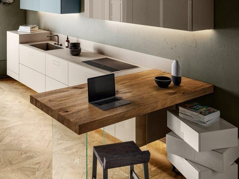 Cucina componibile con penisola HOME OFFICE 1098 | Cucina by Lago