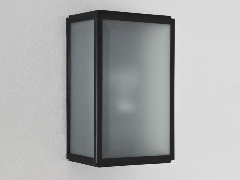 Direct-indirect light stainless steel wall lamp HOMEFIELD FROSTED by Astro Lighting