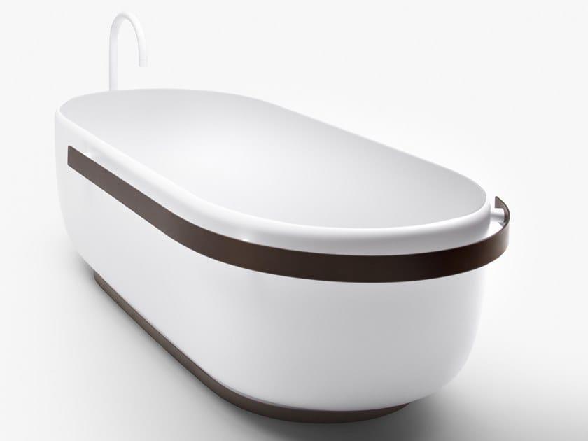 Freestanding oval Cristalplant® bathtub HOMEY | Bathtub by FALPER