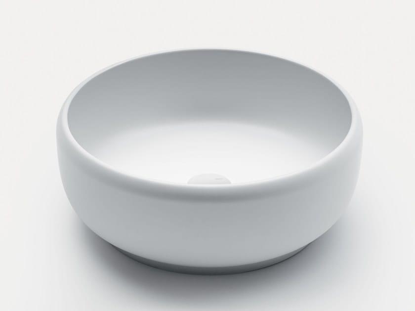 Countertop round Cristalplant® washbasin HOMEY WD1 by FALPER