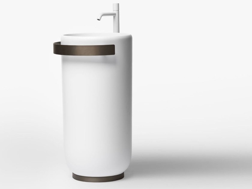Freestanding round Cristalplant® washbasin HOMEY | Freestanding washbasin by FALPER