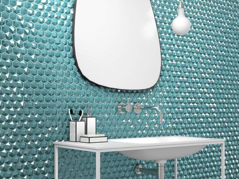Glass mosaic HONEY DIAMOND by VIDREPUR