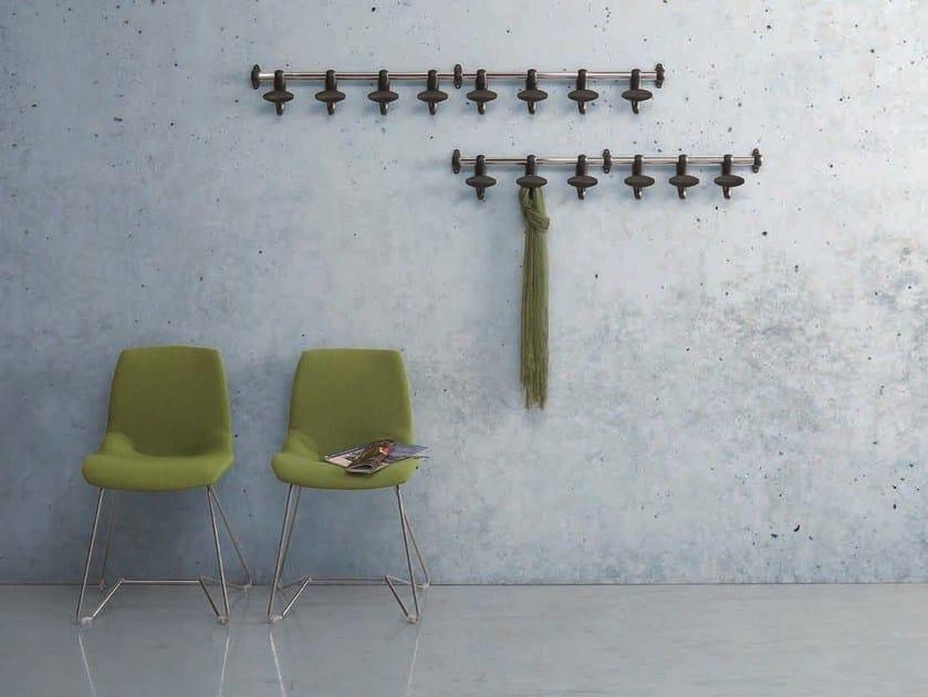 Cabide de aço cromado de parede HOOK by Caimi Brevetti