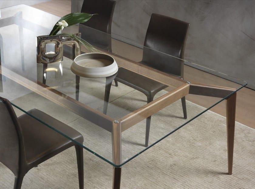 Tavoli In Legno E Vetro : Tavolo rettangolare in legno e vetro hope tavolo in legno e