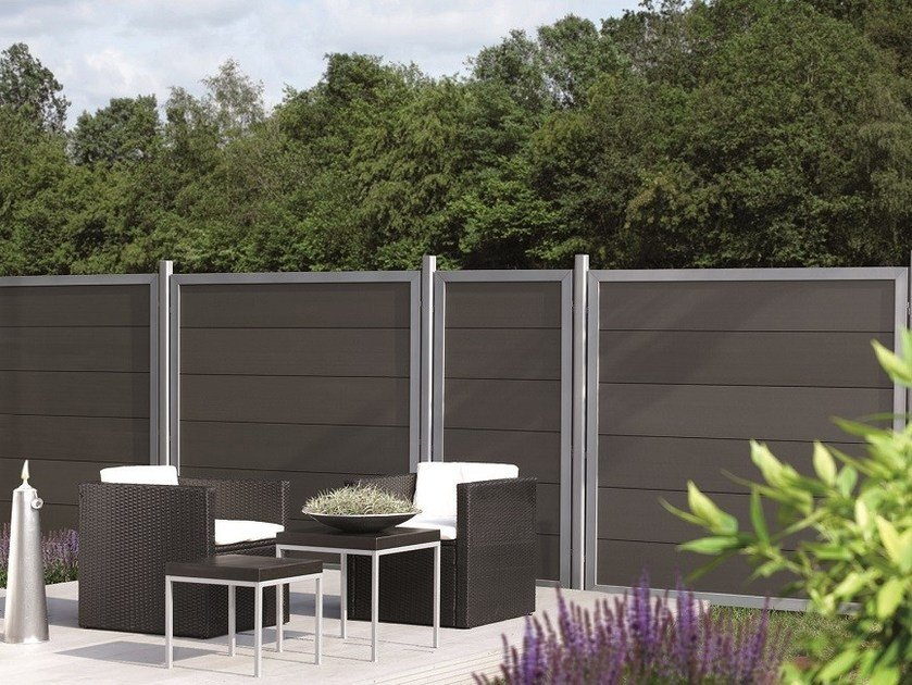 Modular screening Fence HORIZEN® COMPOSITE DESIGN ALU PANEL by BETAFENCE ITALIA