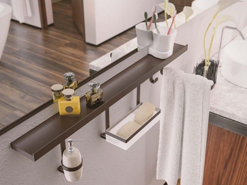 Metal bathroom wall shelf HORIZON BIG by Damiano Latini