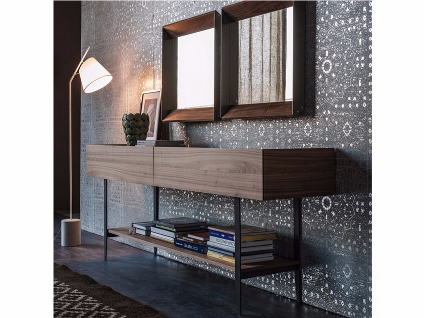 Rectangular wooden console table with drawers HORIZON by Cattelan Italia