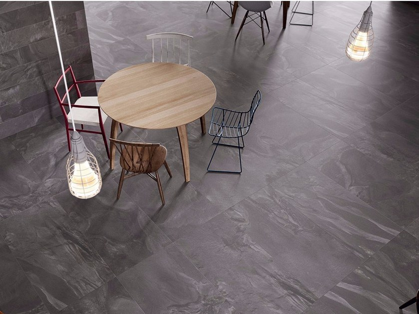Porcelain stoneware flooring with stone effect HORIZON by Ceramiche Coem