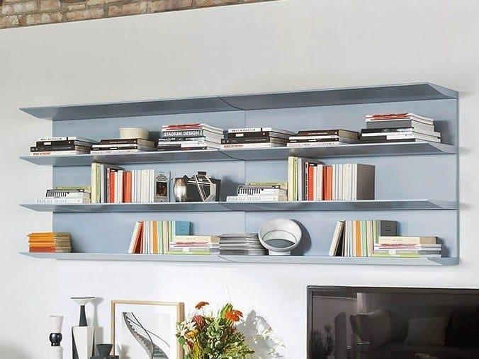 Wooden wall shelf HORIZON by Novamobili
