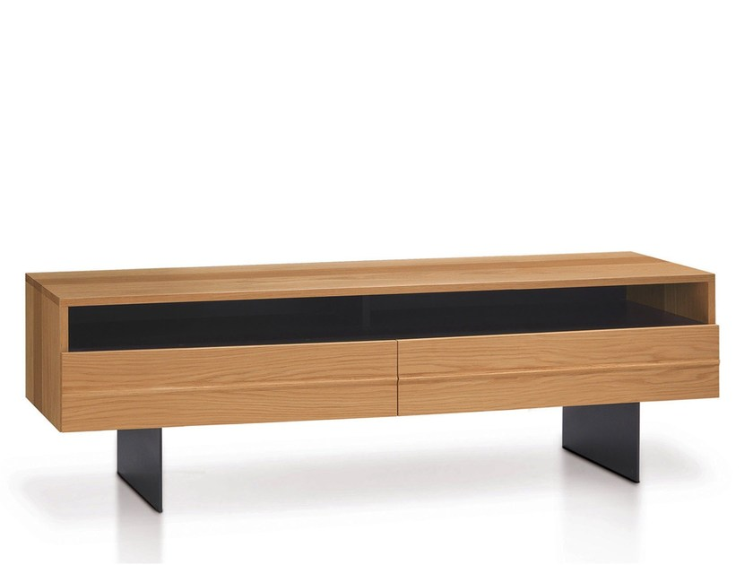 Low Solid Wood TV Cabinet HORIZON | TV Cabinet By Oliver B.