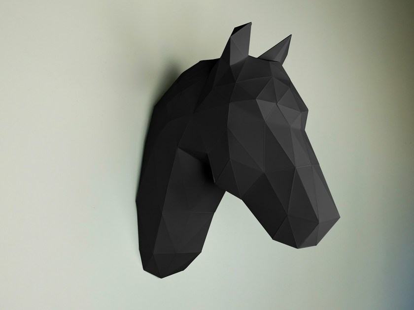 Paper wall decor item HORSE by Papertrophy