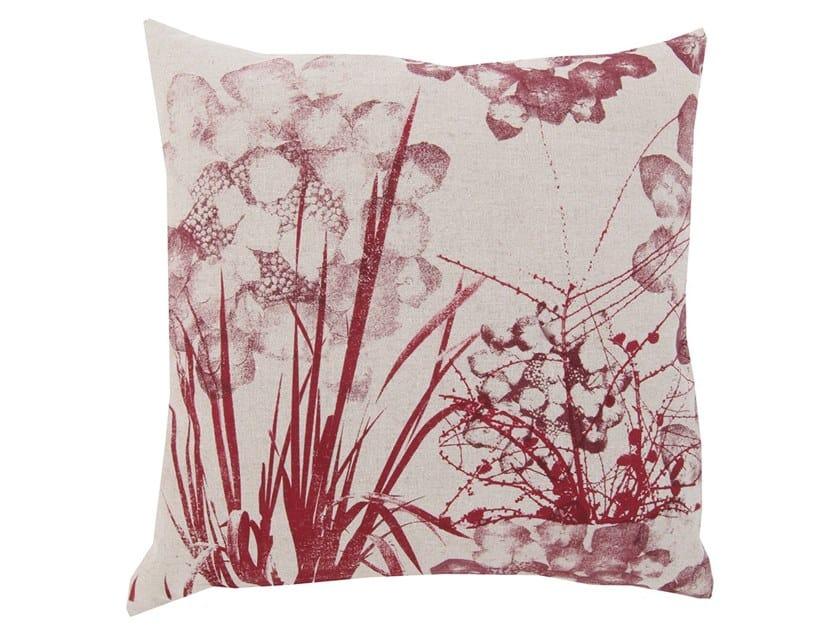 Linen cushion with floral pattern HORTENSA | Cushion by Birgit Morgenstern Studios