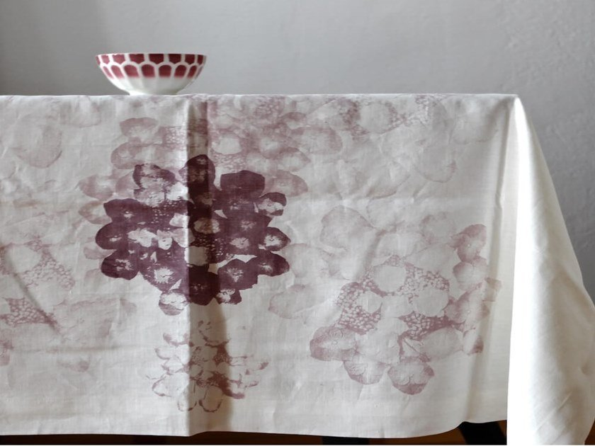 Linen tablecloth HORTENSA | Tablecloth by Birgit Morgenstern Studios
