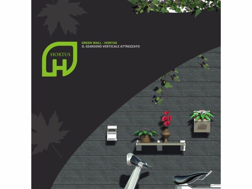 Wood panel for facade / planter HORTUS by GARBARINI