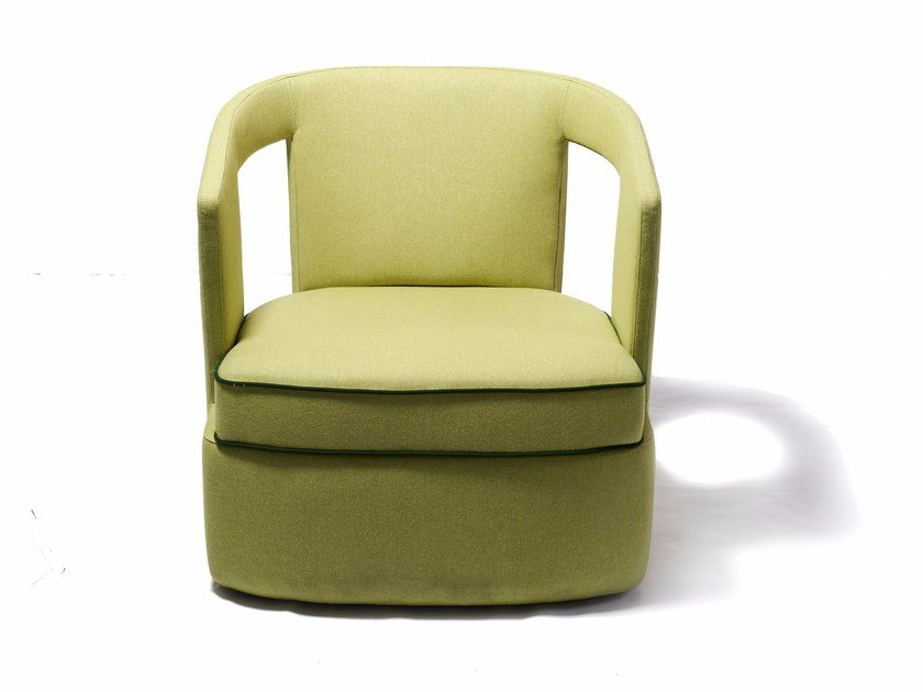 Fabric armchair with armrests HOST by Nube Italia