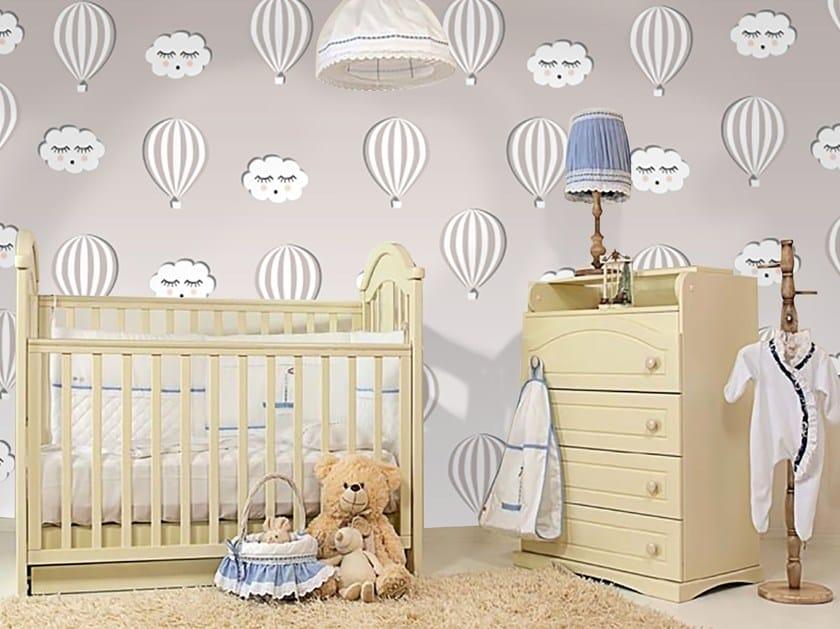 Adhesive washable kids wallpaper HOT AIR BALLOONS by Wall LCA