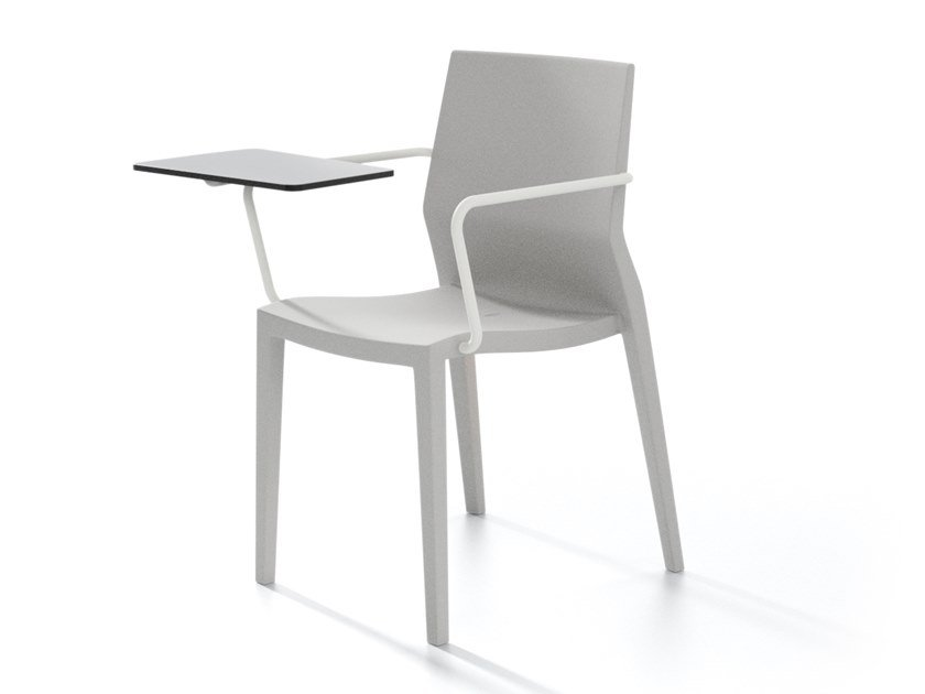 Stackable plastic chair with armrests HOTH BR TAV by IBEBI