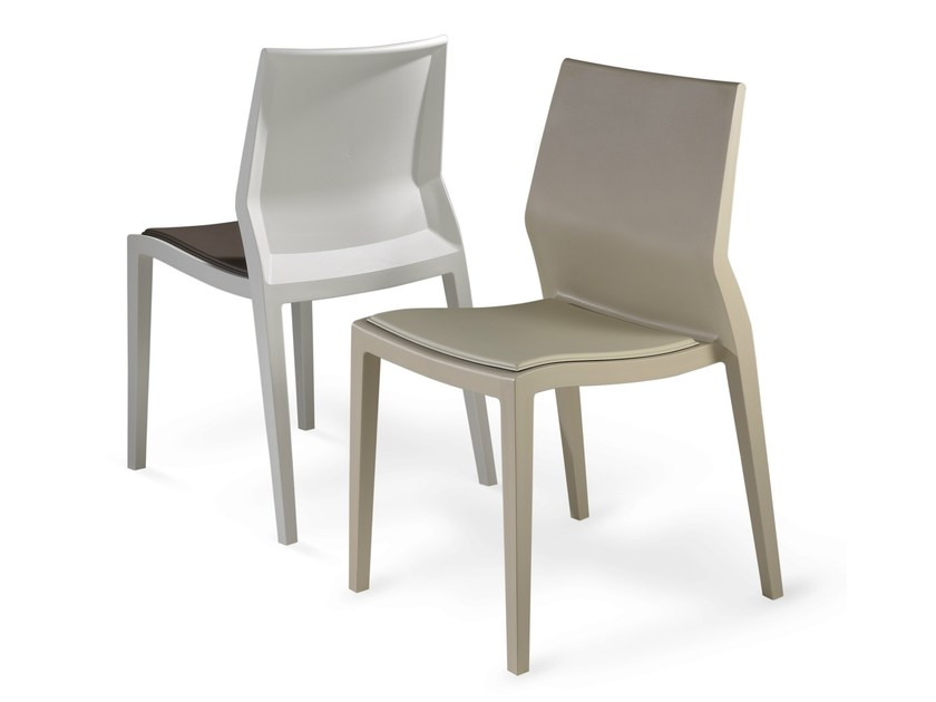 Polypropylene chair HOTH | Upholstered chair by IBEBI