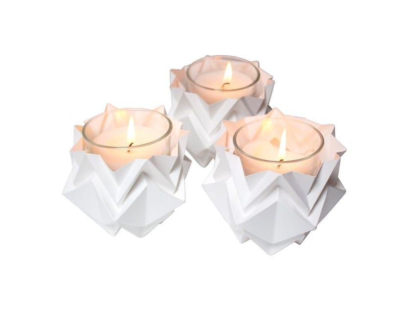 Paper candle holder HOUSEKI | Candle holder by Tedzukuri Atelier