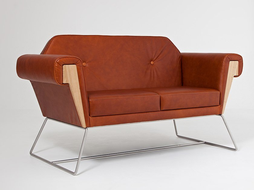 2 seater leather sofa HOVE CLUB | Leather sofa by Liqui Contracts