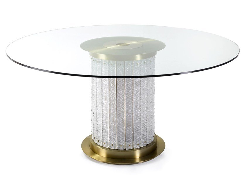 Round glass living room table HOWARD | Round table by MARIONI