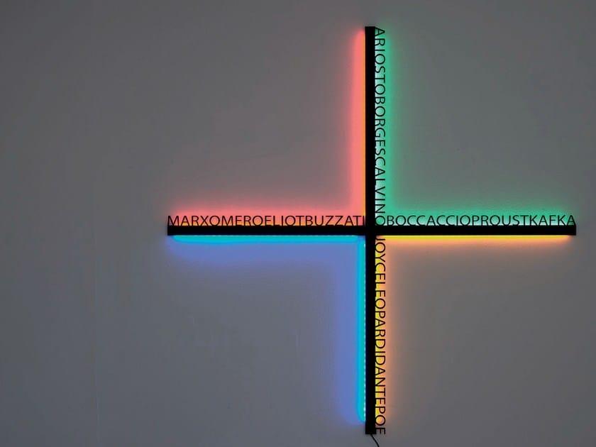 Lampada da parete a LED a luce radente in alluminio HSIANG by Artemide