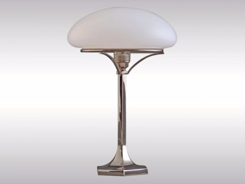 Opal glass table lamp HSP1 by Woka Lamps Vienna