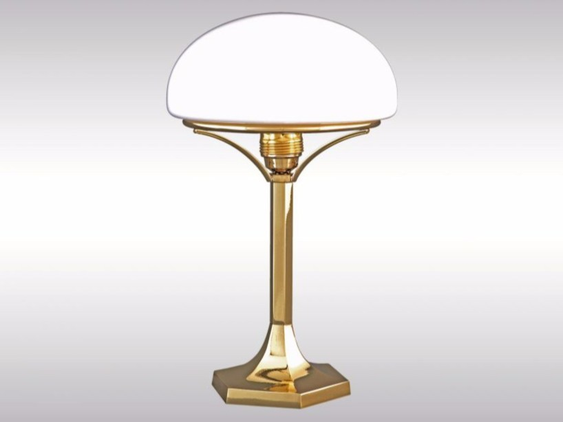 Brass table lamp HSP2 by Woka Lamps Vienna