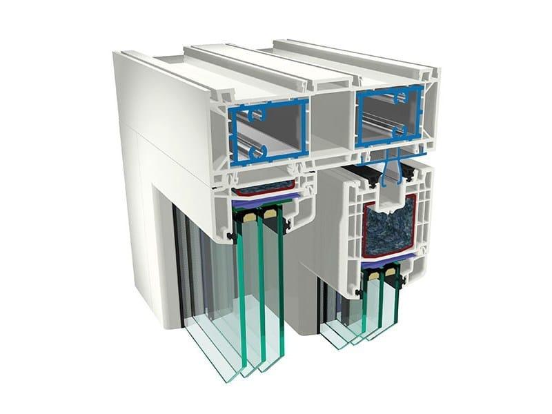Lift and slide PVC triple glazed window URBANPLUS82 | Lift and slide window by PIVA GROUP
