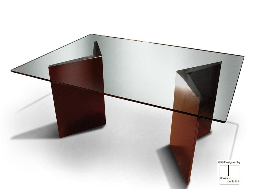 Glass dining table HUALAPAI by Gonzalo De Salas