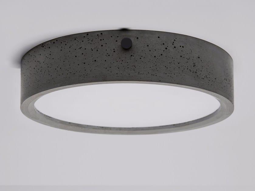 LED concrete ceiling lamp HUAN by Bentu Design