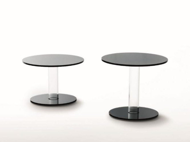 Round crystal coffee table HUB | Coffee table by Glas Italia