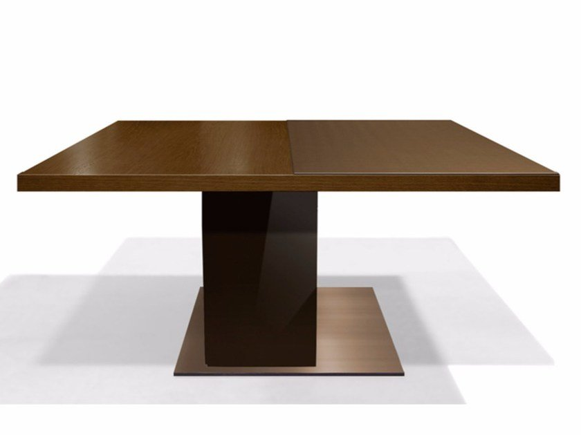 Square wooden meeting table HUB by JOSE MARTINEZ MEDINA