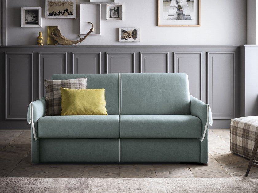 Contemporary style 3 seater upholstered fabric sofa bed HUBERT by Felis