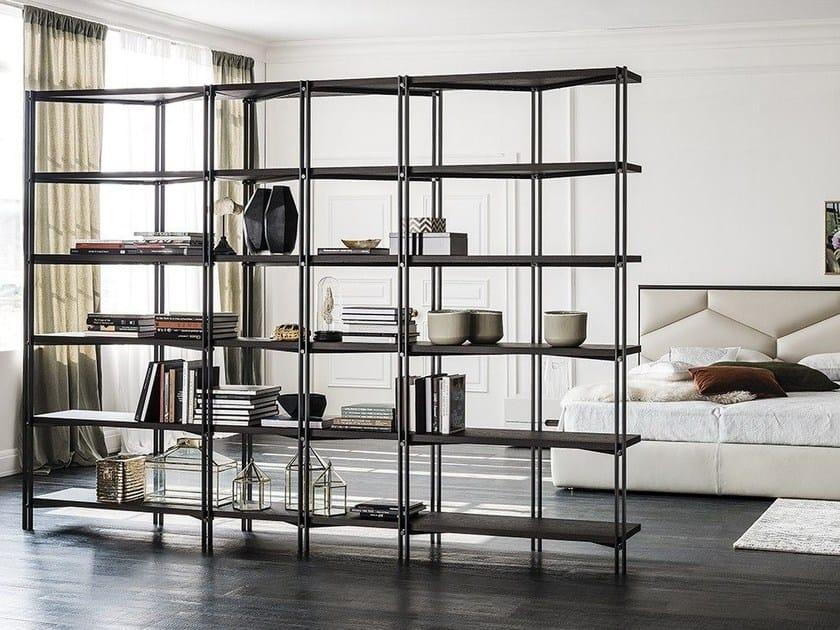Libreria a giorno modulare in acciaio HUDSON by Cattelan Italia