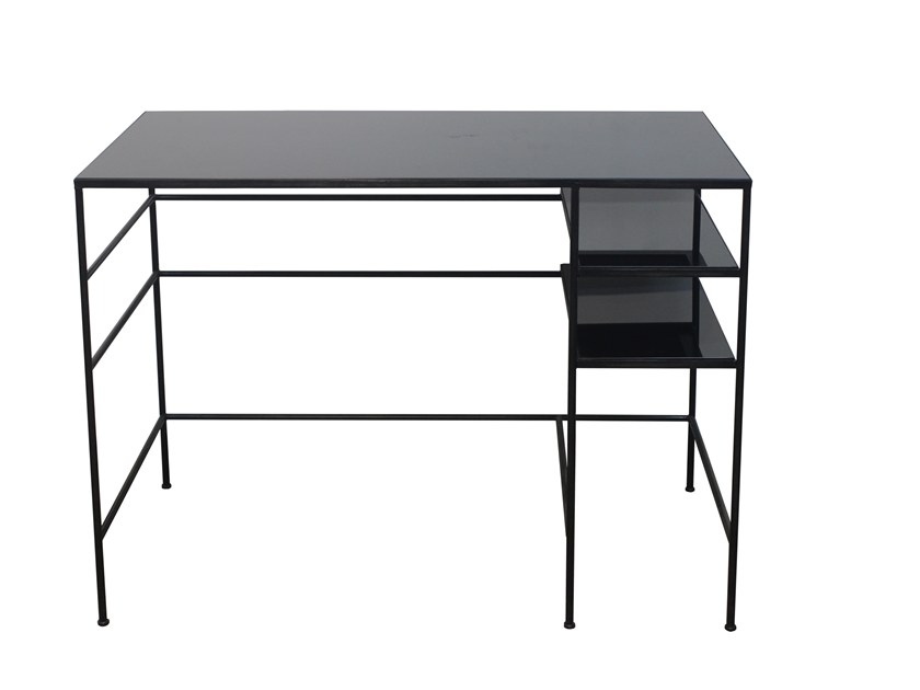 Rectangular glass writing desk HUGO DESK by Notre Monde