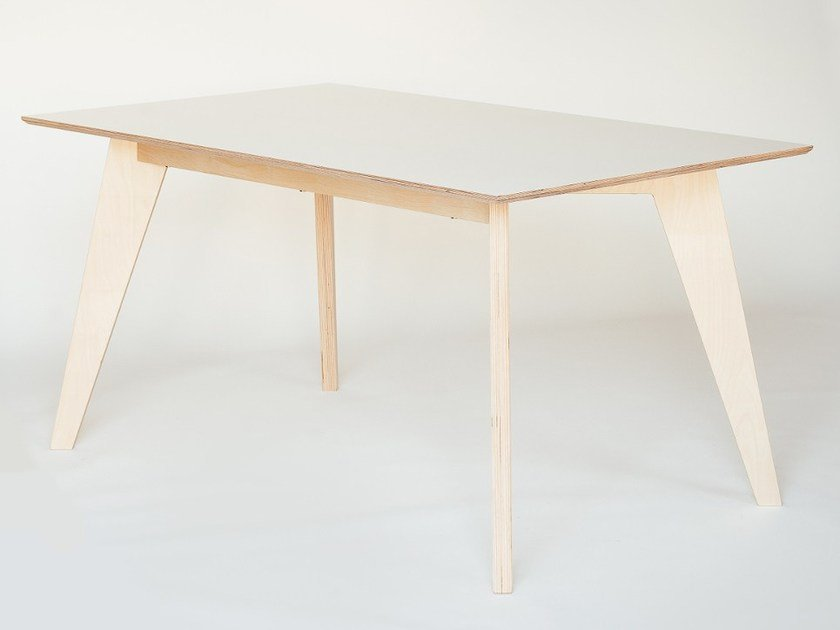Rectangular plywood dining table HUH | Dining table by Radis