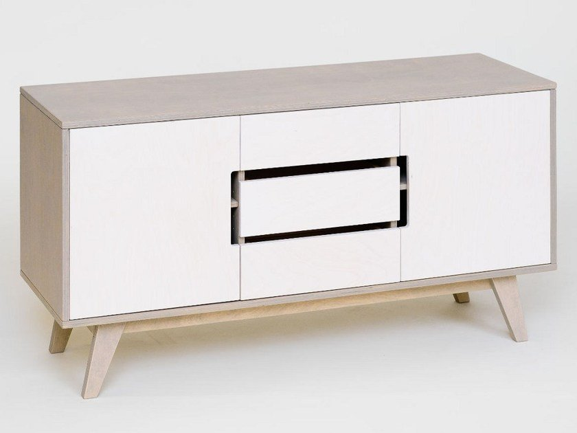 Plywood sideboard with doors with drawers HUH | Sideboard by Radis