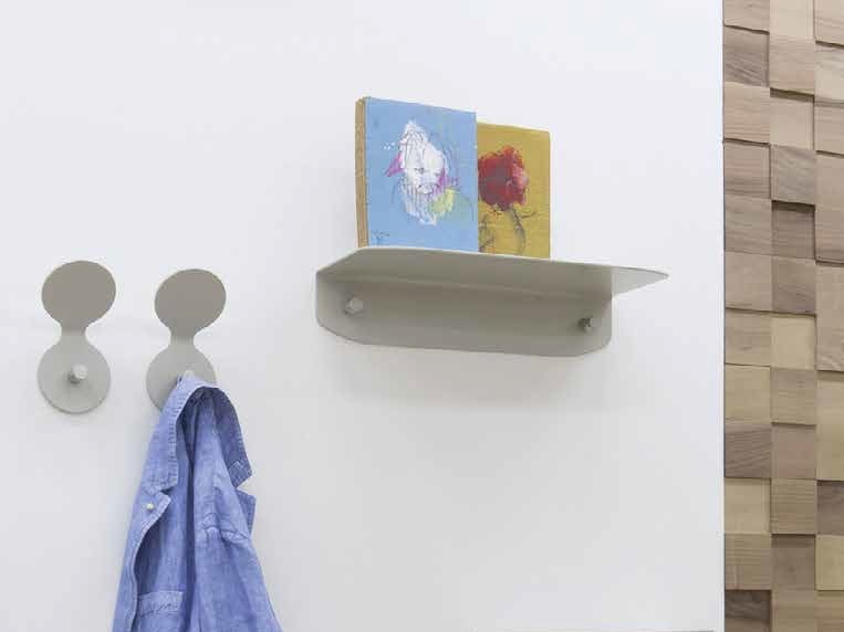 Steel coat rack / wall shelf HULA&HOOP by iCarraro
