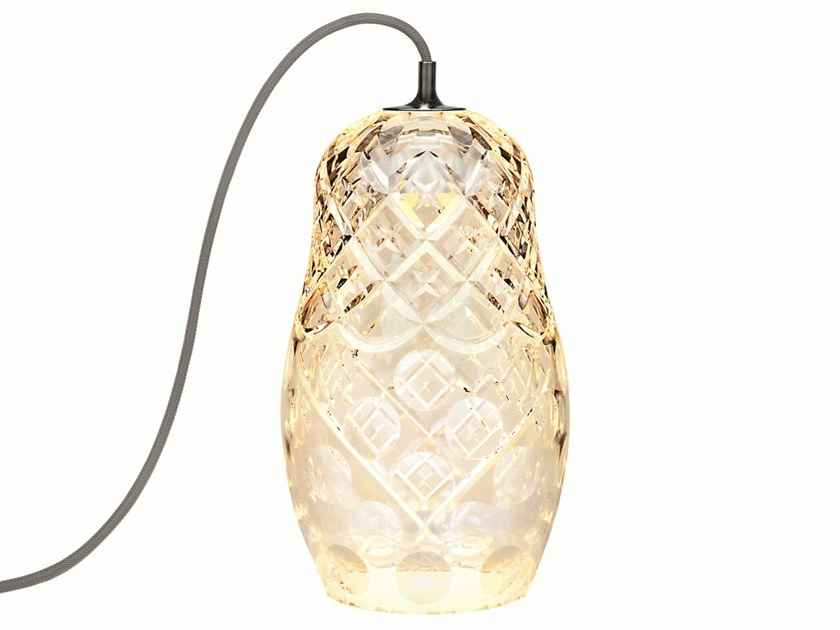 LED crystal table lamp HULOTTE by Saint-Louis