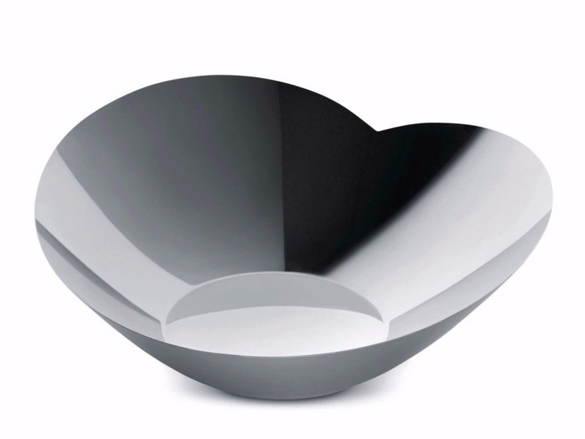 Stainless steel salad bowl HUMAN | Salad bowl by Alessi