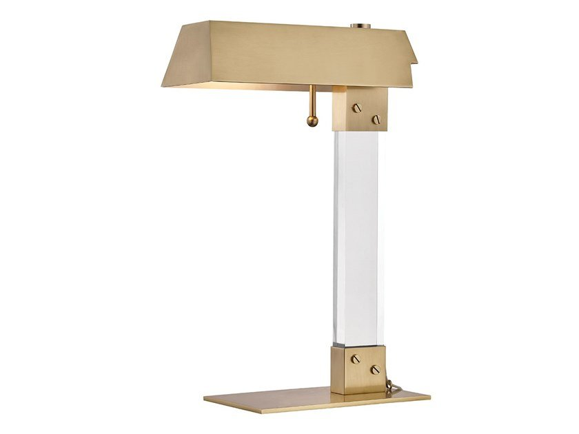 Metal and acrylic desk lamp with fixed arm HUNTS POINT by Hudson Valley Lighting