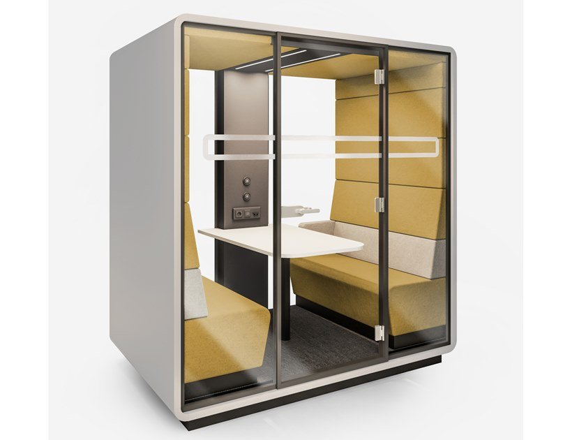 Acoustic office booth HUSH MEET by Mikomax Smart Office
