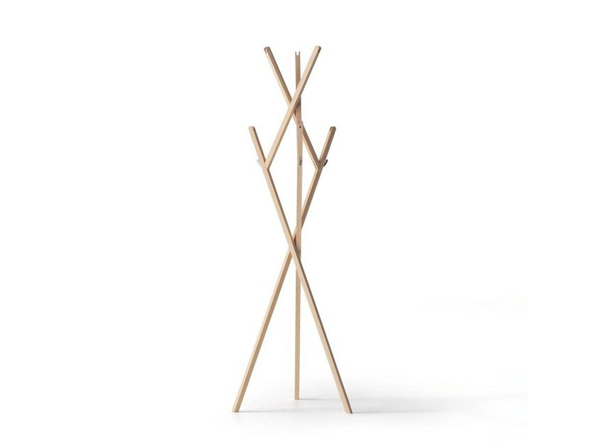 Solid wood coat stand HUT AB by Nils Holger Moormann