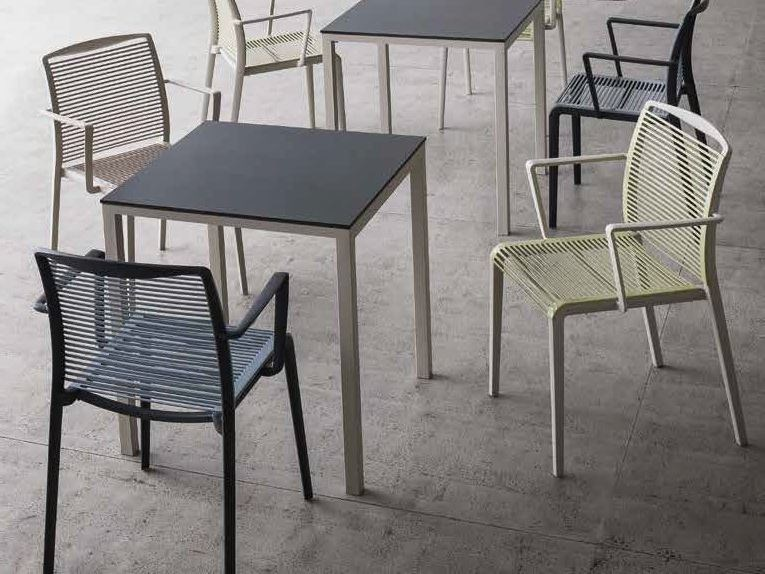 Technopolymer chair with armrests HYDE by iCarraro